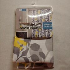 Shower Curtain Set 13 Piece (72x72) With 12 Hooks New