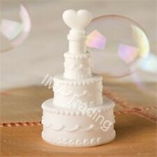 72 Prefilled Pearl Bow Ribbon Bubble Wedding Party Table Favour Integrated Wand