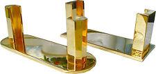 AB813-896 Karten Namenkarten Halter Zweier Set massiv Messing goldfarbig-poliert