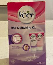 Veet Hair Lightening Kit Face & Body 2x 75ml Ideal For Travel Size