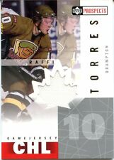 2000-01 UD Prospects Raffi Torres CHL Jersey Brampton Battalion Maple Leafs