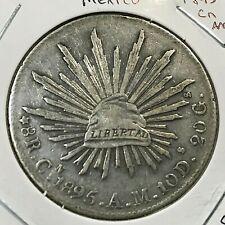 1895 CnAM MEXICO SILVER 8 REALES HIGH GRADE  CROWN