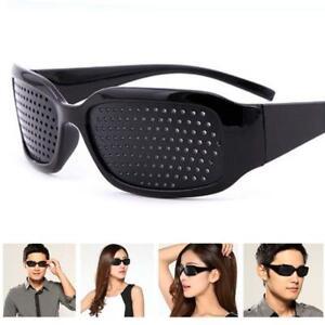 New Eyewear Pinhole EyeGlasses Training Eyesight Improvement Vision Care Ex F8G9