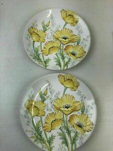 "Noritake Craftone Buttercup Plate Japan 8769 China Yellow/Green - 8 1/8""D"