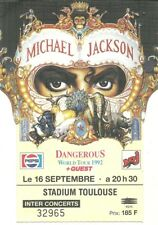 RARE / TICKET BILLET CONCERT - MICHAEL JACKSON : LIVE A TOULOUSE ( FRANCE ) 1992