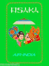 Osaka Japan Japanese Asia Asian India Vintage Travel Advertisement Art Poster