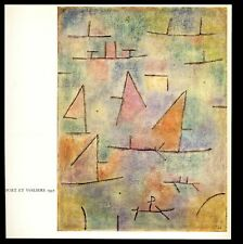 """Port et Voiliers (Port and Sailboats)"" by Paul Klee—Book Art Print 8x8"""