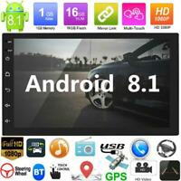 "2DIN 7"" Quad Core Android8.1 HD Autoradio MP5 Player GPS Navi Bluetooth WiFi FM"