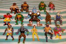 Vintage TMNT Lot of 14 Action Figures Teenage Mutant Ninja Turtles Playmates