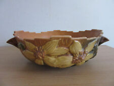 """Roseville Clematis Double Handled Console Bowl 457-8"""""""