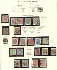 Danish  West  Indies  nice  collecton on pages    LOOK      MS0302