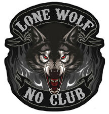 LONE WOLF CLUB MOTORCYCLE PATCH P3850 biker patches bikers novelty patches new