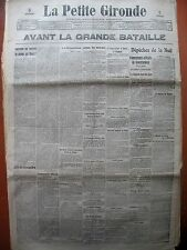 WW1 BELGIQUE BATAILLE DE HAELEN TIRAILLEURS MAROCAINS LA PETITE GIRONDE 1914