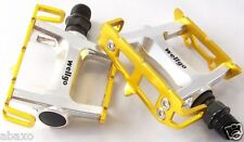 """Wellgo R25 Gold & Silver Bike Pedals Track Fixed Gear Road 9/16"""""""