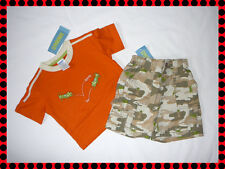 NWT boys Gymboree BUG DETECTIVE orange shirt top tan camoflage shorts outfit 3-6