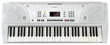 61-TASTEN KEYBOARD E-PIANO KLAVIER LERNFUNKTION 100 SOUNDS & RHYTHMEN WEIß