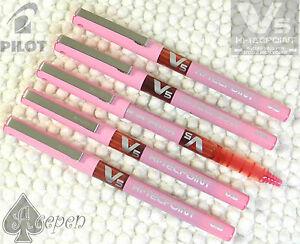 FREE SHIP 12 pcs Pilot V5 HI-TEC-POINT V system roller ball pen 0.5mm PINK INK