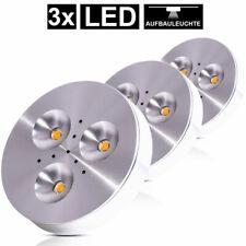 3x LED Einbau Spot Lampe Aufbau Leuchte Strahler Möbel Schrank Beleuchtung Alu
