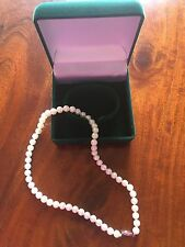 AKOYA AA Certified PEARL NECKLACE 17 Inch white silver Pearls 7-7.5 mm NIB