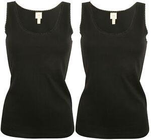 Ex Store Ladies Value Pack Cotton Vest Style T-Shirt Tops