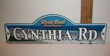 DOOR WALL SCANDICAL MYRTLE BEACH SOUTH CAROLINA NAME ROAD SIGN CYNTHIA RD