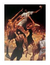 "African American Art ""Anatomy of Team Handball"" Limited Edition by Kadir Nelson"
