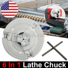 Three Jaw Self Centering Lathe Chuck Milling M12 Metal 45x20mm Fixed Solid USA