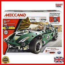 Meccano 6040176 5 in 1 Model Set Roadster Cabriolet Sports Car Create Build Fun