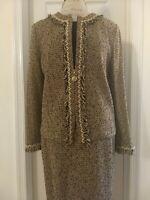 St. John Collection Knit Jacket/Skirt Suit Size 14