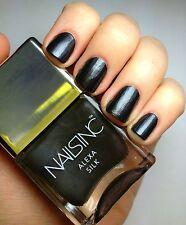 NAILS INC Nail Polish ALEXA SILK Rich Black Smooth Shimmer Pearl Full Sz .47 oz