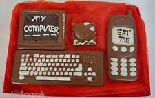 Hand-madeChocolate computer screen,keyboard,mousemat & phone,may be personalised