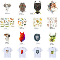 Lot Animal Heat Transfer Stickers Clothes Patches DIY Printing Iron On Appliques