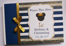 PRINCE MICKEY BIRTHDAY / BABY SHOWER GUEST BOOK - ANY DESIGN