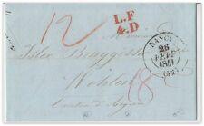 1838/41 France/Suisse (2 Belege) einfaches/doppeltes Porto (Postvertrag Basel/F)