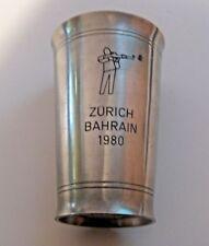 RARE VINTAGE 1980 SWISS MILITARY SWISS ZURICH & BAHRAIN SHOOTING AWARD CUP