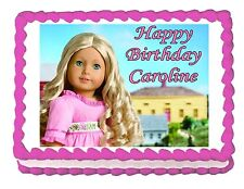 American Girl Caroline edible cake image party decoration frosting topper