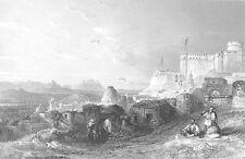 Tunisia Tunis FORT OF EL KEF KASBAH GREAT MOSQUE ~ Old 1841 Art Print Engraving