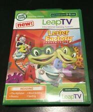 LeapFrog LeapTV LEAP FROG VIDEO GAME KIDS READING PRE-K 1ST GRADE LETTER FACTORY