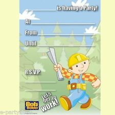 BOB THE BUILDER INVITATIONS (20) ~ Birthday Party Supplies Stationery Cards Note