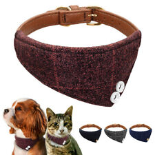 Bandana Style Dog Collar Neck Scarf Adjustable Neckerchief Necklace for Pet Cat