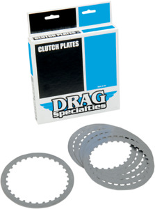 Drag Specialties Steel Clutch Plate Kit 90-19 Buell S1 Harley Softail Touring XL