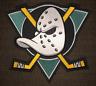 Vintage Rare 1990's Anaheim Mighty Ducks Hockey Jersey Hoodie Jacket Crest A