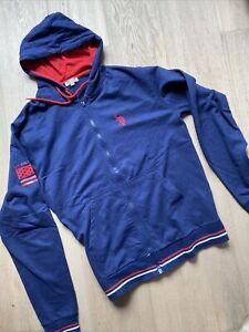 U.S. POLO ASSN. Hoodie Herren Sweat Jacke Sweater Kapuzenjacke Blau Gr Xl