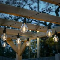 Battery Power LED Filament Festoon Fairy Lights | Timer Outdoor Garden Globe