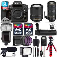 Nikon D810 DSLR + AFS 18-140mm VR + 70-200mm 2.8E VR + LED + Pro Flash + 48GB