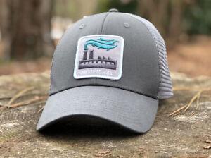 Rare Patagonia Artifishal Film Trucker Hat Cap Forge Grey Adjustable