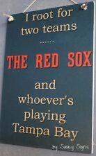 Boston Red Sox versus Tampa Bay Rays Baseball Sign Tickets Ball Card