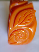 Celluloid Carved Chunky Bangle Bracelet @ Beautiful @