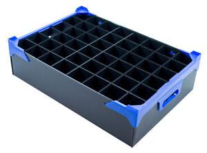 Glassjacks Glassware Storage Box - 48 Cells - Compartment Size H160 x D54mm
