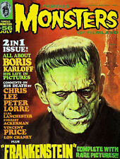 Monsters Frankenstein High Quality Metal Magnet 3 x 4 inches 9555